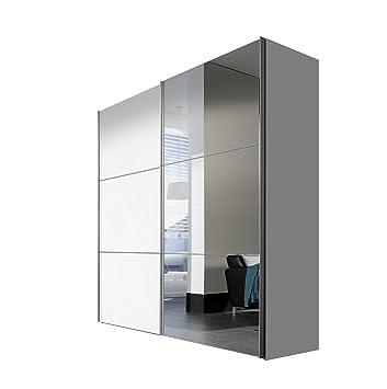 Schön Express Möbel Kleiderschrank Schlafzimmerschrank Weiß Hochglanz 200 Cm Mit  Spiegel, 2 Türig, BxHxT