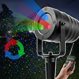 Elec3 Outdoor Waterproof Motion Christmas RGB Laser Light Star Projector w/Remote Control - Aluminum.FDA Approved, Green Red and Blue for Christmas,Party,Wedding,Garden Decoration