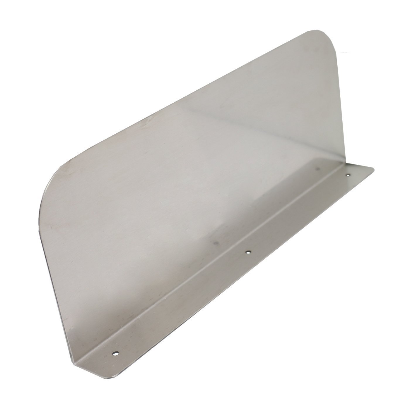 DuraSteel Stainless Steel Splash Guard - 15'' x 6'' Wall Mount - For Commercial Restaurant Hand Sink and Compartment Prep Sink Mounting Type
