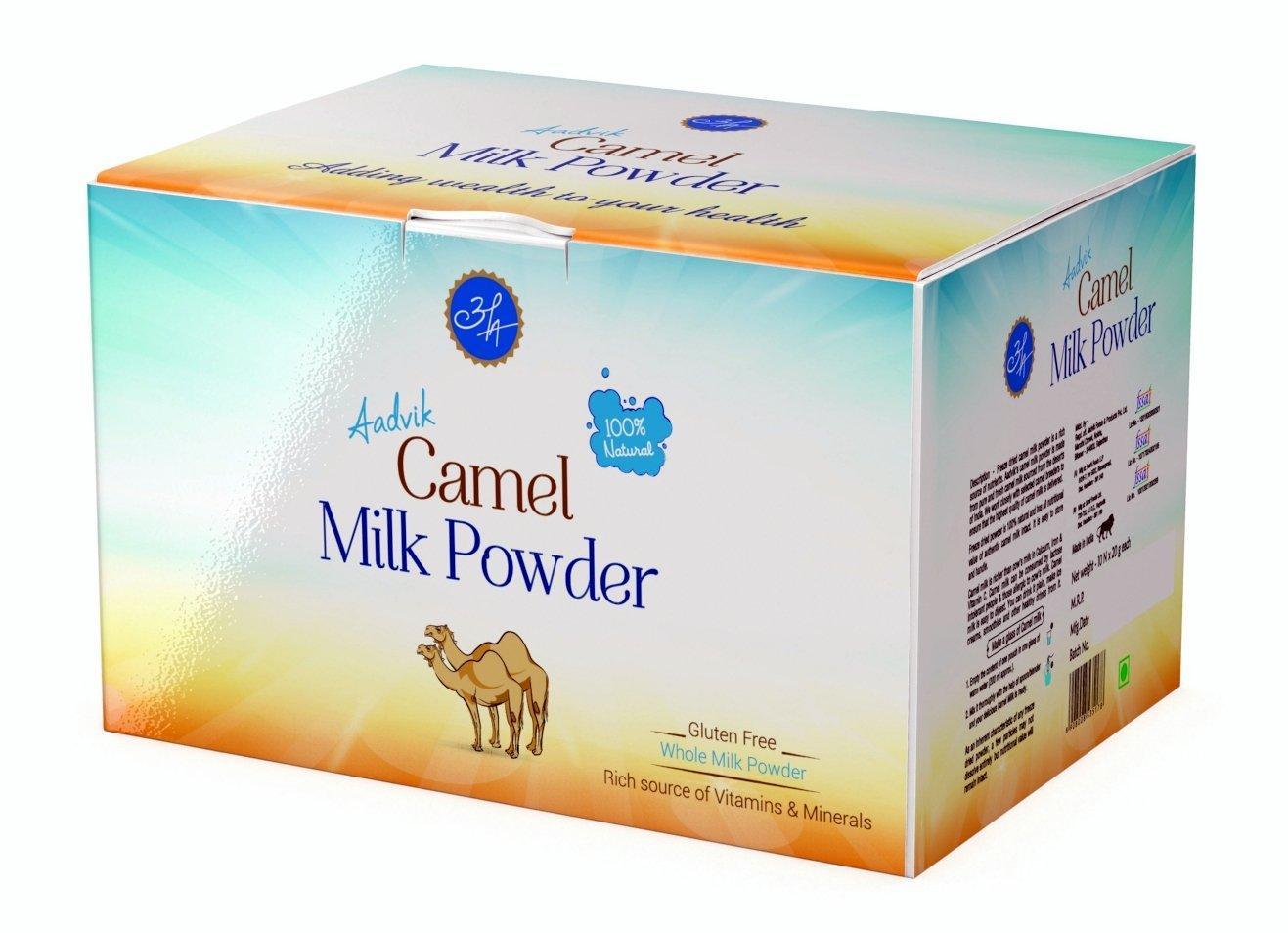 Aadvik Camel Milk Powder 0.7 Oz x 10 servings, 7 Oz makes 70 fl oz (Freeze Dried, Gluten free, no additives, no preservatives)