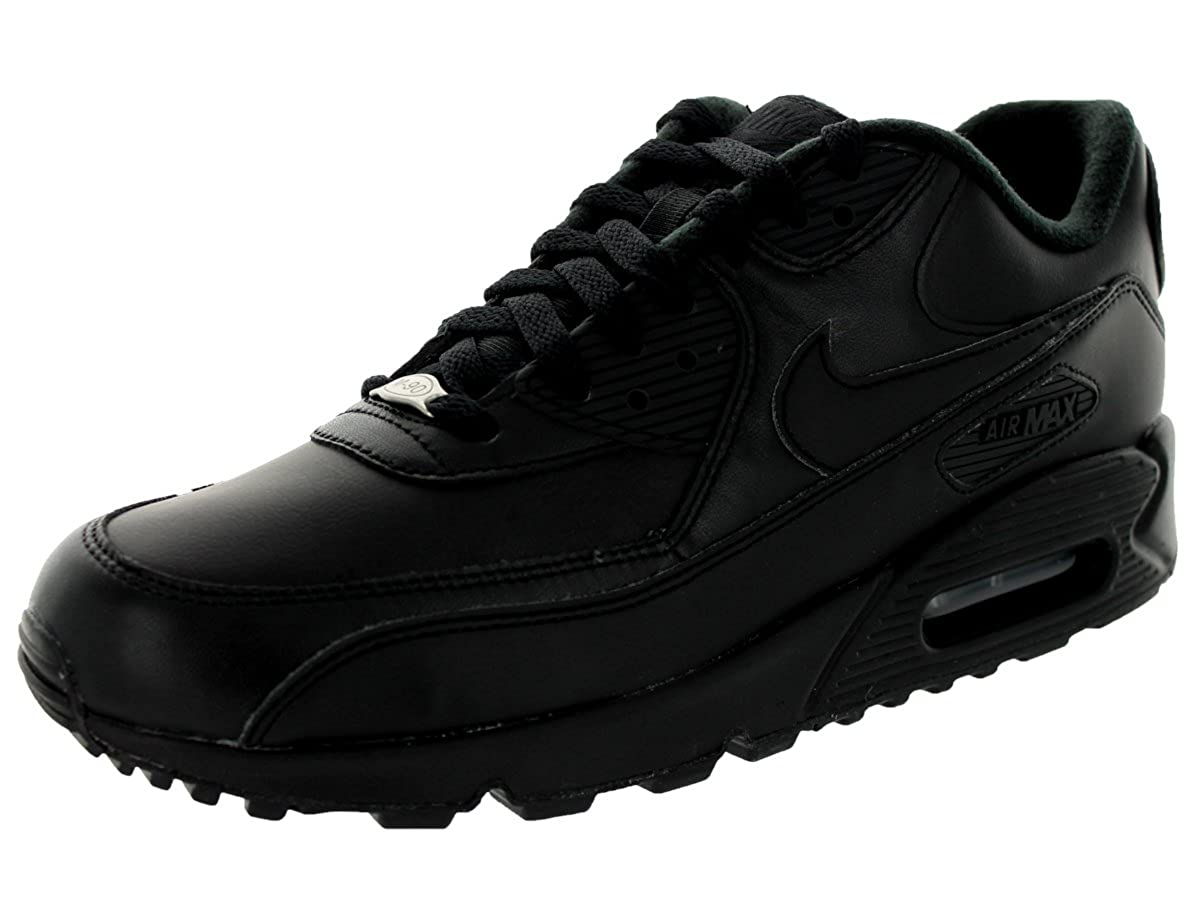 black Nike Men's Air Max 90 Leather Running shoes