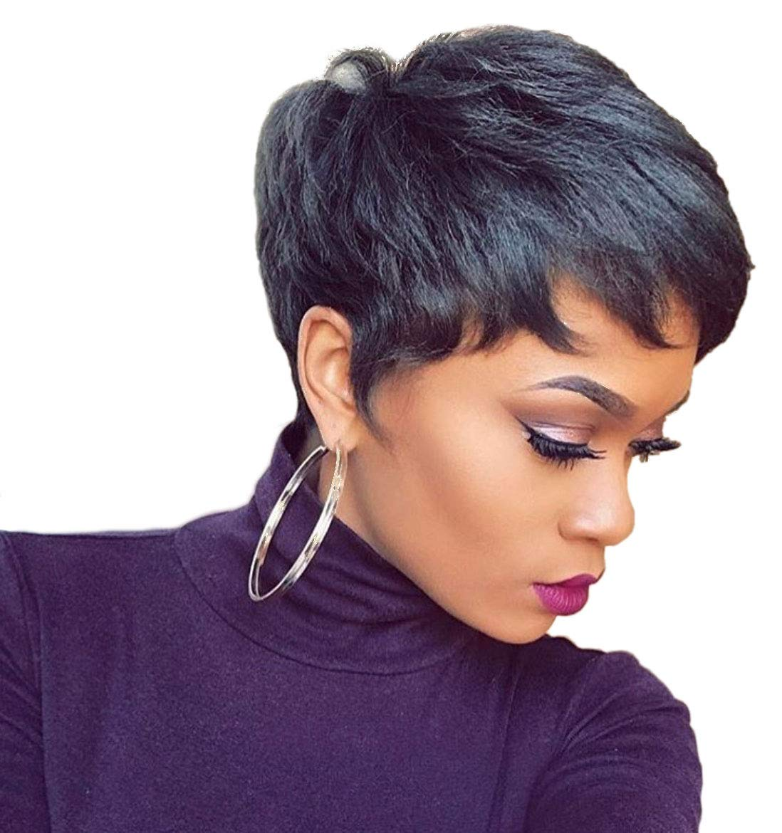 Naseily Short Hair Wigs For Black Women Curly Synthetic Wig African  American Women Wigs