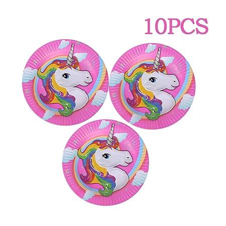 10pcs / Set Partido Del Unicornio Suministros Del Kit De ...