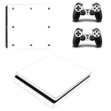 Morbuy Ps4 Slim Skin Consola Design Foils Vinyl Pegatina Sticker And 2 Playstation 4 Slim Dualshock Controlador Skins Set (Only White)