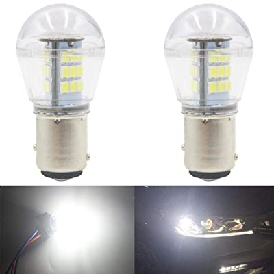 AMAZENAR 2-Pack 10-24V DC Extremely Bright White 1157 2057 2357 7528 BAY15D 33SMD LED Bulbs Replacement for Halogen lamp Back Up Reverse Lights Tail Brake Lights Side Marker Interior RV Camper Light: Automotive