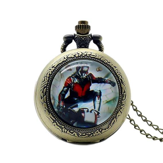 Reloj de Bolsillo Moderno, diseño de cúpula de Cristal con Tema de Ant-Man