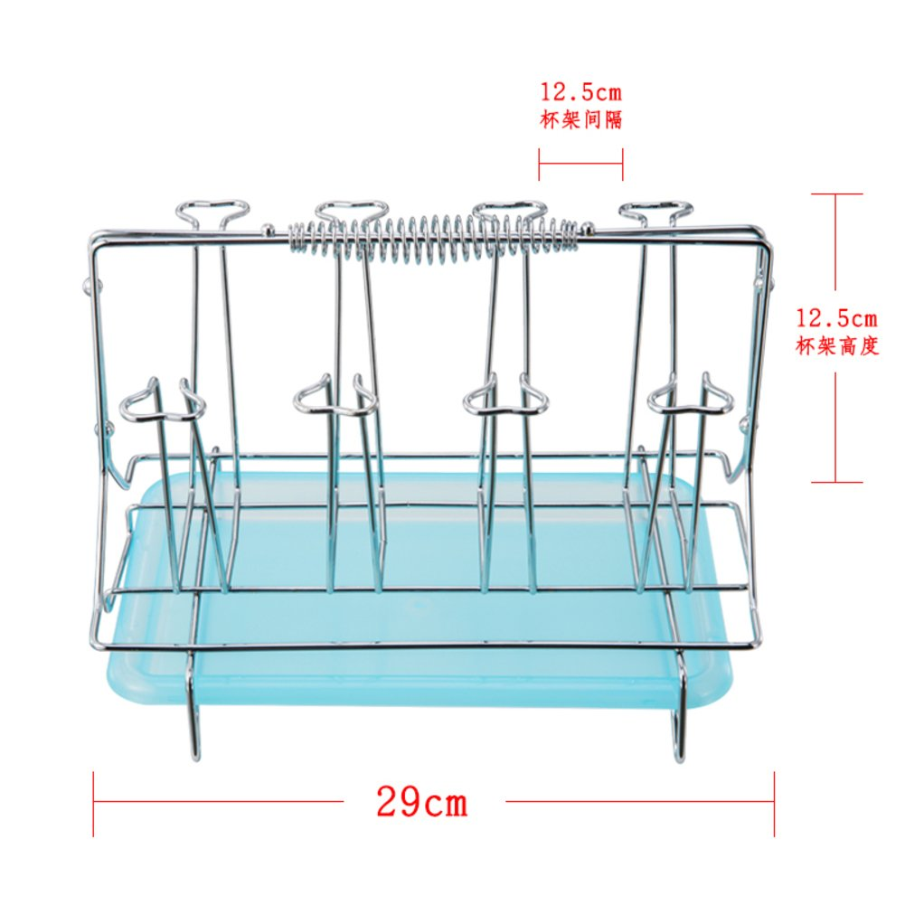 Stainless Steel Drying Rack Stand Cup Holder Glass Holder Kitchen Drain Stand Beer Holder