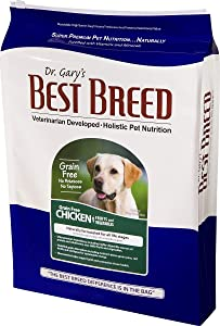 Best Breed Grain Free Chicken with Fruits & Vegetables Made in USA [Natural Dry Dog Food for All Breeds and Sizes] - 30lbs.
