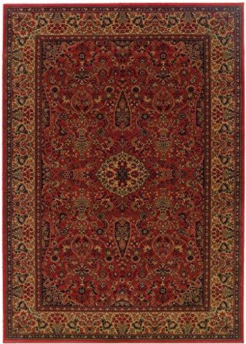 Couristan 3760 4872 EVEREST Ardebil 110-Inch by 149-Inch Polypropylene Area Rug, Crimson