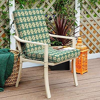 Arden Companies Arden + Artisans Khalid Moroccan Tile High Back Chair : Garden & Outdoor