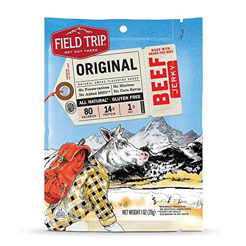 Field Trip Gluten Free, High Protein, Original Beef Jerky, 1oz Bag, 12 Count