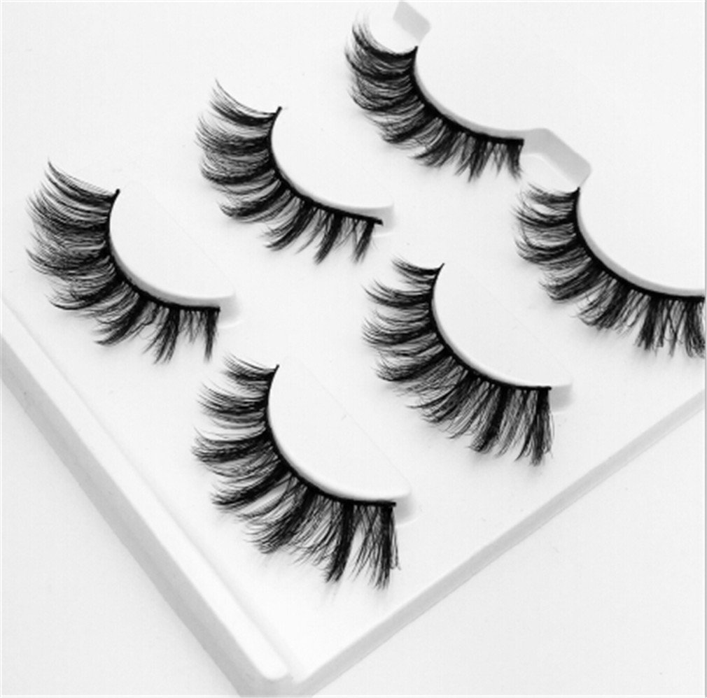 Amazon 3 Pairs Natural False Eyelashes Fake Lashes Long Makeup