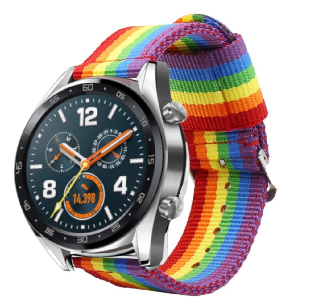 Estuyoya - Pulsera de Nylon Compatible con Huawei Watch GT ...