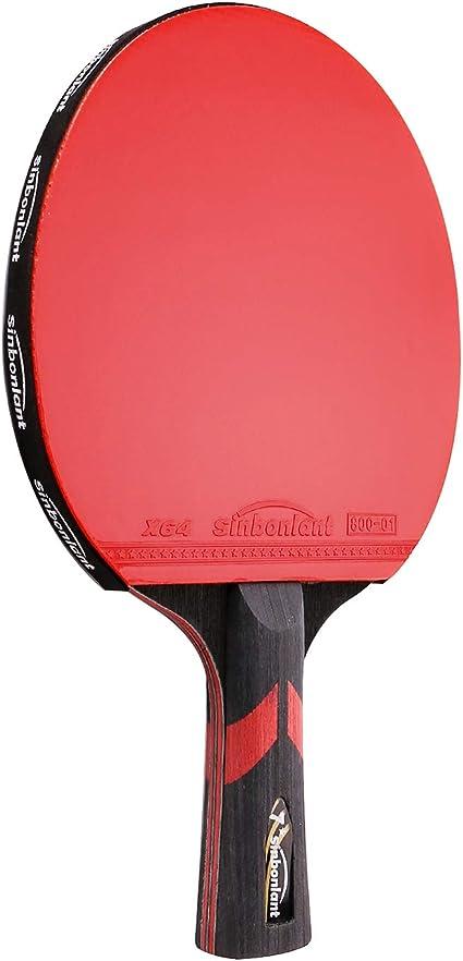Amazon.com: Pala de ping pong profesional de madera y fibra ...