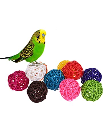 Pet Birds Parrot Toys Cockatoo Parakeet Bird Swing Budgie Cotton Climbing Rope Knots With Christmas Bells Hanging Chew Decor Orders Are Welcome. Home & Garden