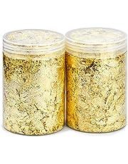 Kupink 2 stuks bladgoud imitatie-gouden decoratieve folies voor het vergulde schilderen en doe-het-zelf kunsthandwerk