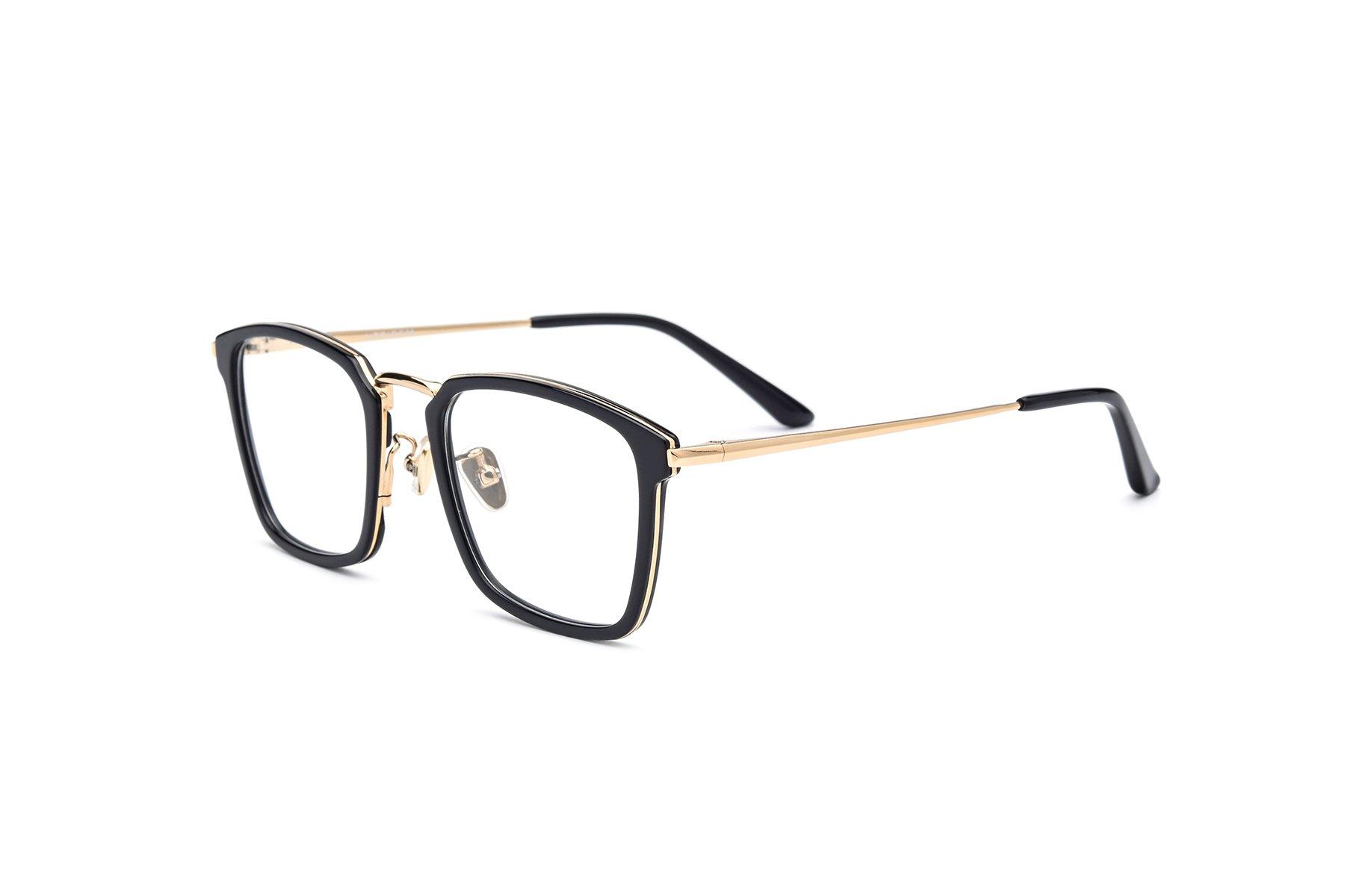 b42837da6987 HEPIDEM Acetate Men Optical Myopia Glasses Frame Prescription Spectacle  70042 (Black Gold)