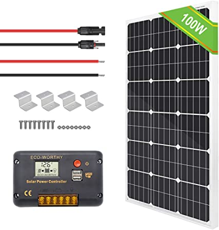 40 W 60 W 80 W 100 W 150 W Mono Folding Case Solar Charging Kit 12 V batterie camping