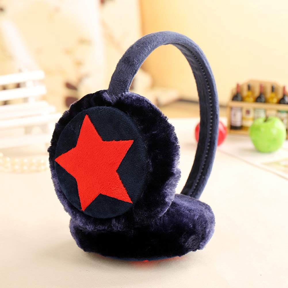 CHUANGLI Girls Kids Winter Warm Earmuffs Outdoor Ear Warmers Adjustable Fuzzy Ear Muffs