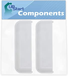 2-Pack W10861225 White Dryer Door Handle Replacement for Whirlpool WED4815EW1 Dryer - Compatible with W10714516 Dryer Handle - UpStart Components Brand