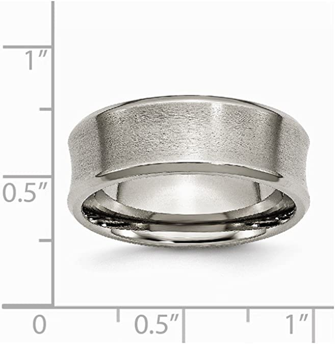 Jewels By Lux Titanium Beveled Edge 8mm Brushed and Polished Band