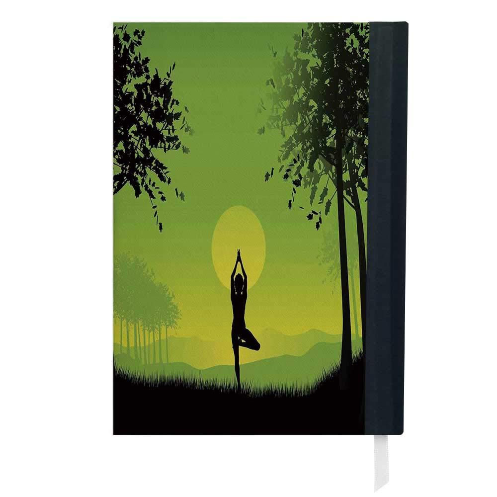 Yoga, bloc de notas para negocios, diseño de cachemira ...