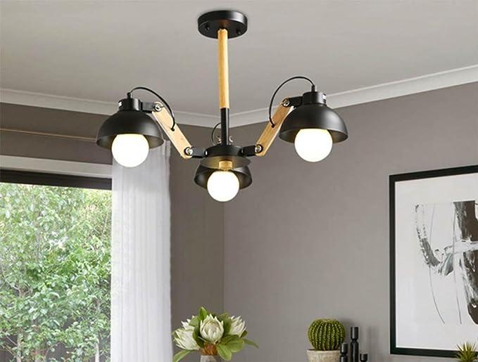 DZW Deckenleuchte Loft Kronleuchter Modern Kreative Wohnzimmer Lampe  Schlafzimmer Restaurant Eisen Kunst Holz Kunst Lampe Kronleuchter