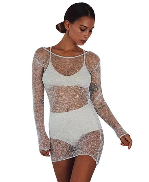 Overdose Vestido de Mujer Sexy See-Through Señoras Erótico Bodystocking S/M / L