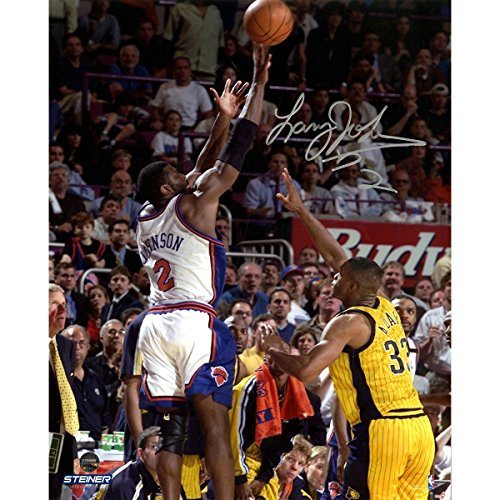 Larry Johnson Autographed 4-point Play 8 Inches by 10 inches Photo