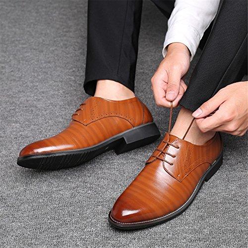 con Zapatos Caucho Cordones Hombre AARDIMI Amarillo Planos de T6xqwHS