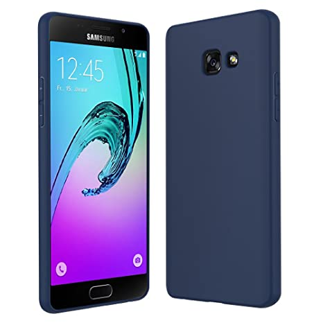 Anjoo Compatible para Funda Samsung Galaxy A5 2017, Azul Silicona TPU Carcasa Samsung Galaxy A5 2017 Fundas de Cáscara Mate