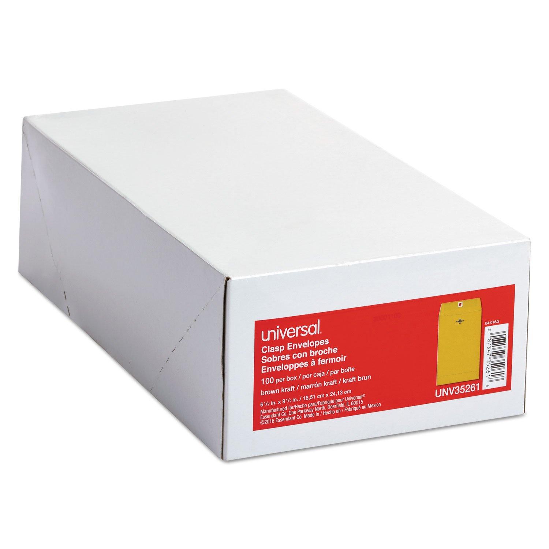 UNV35261 Kraft Clasp Envelope, Side Seam, 28lb, 6 1/2 x 9 1/2, Light Brown, 100/Box by UNV35261 (Image #4)