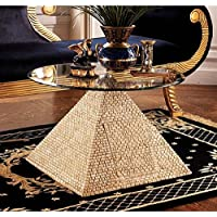 Design Toscano Great Egyptian Pyramid of Giza Sculptural Glass-Topped Table