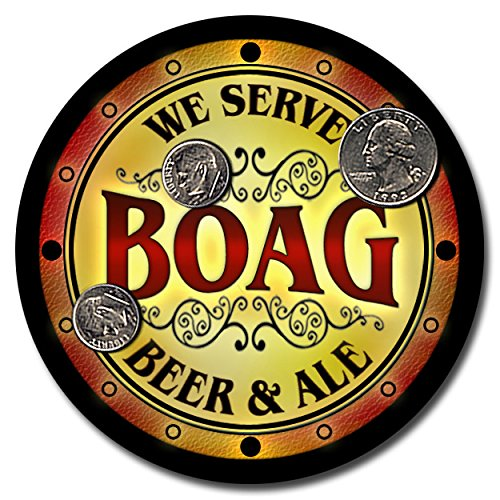 boag-family-name-beer-and-ale-rubber-drink-coasters-set-of-4