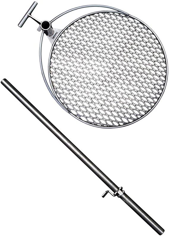 Double Flame Stainless Steel Grill Accessory for 19