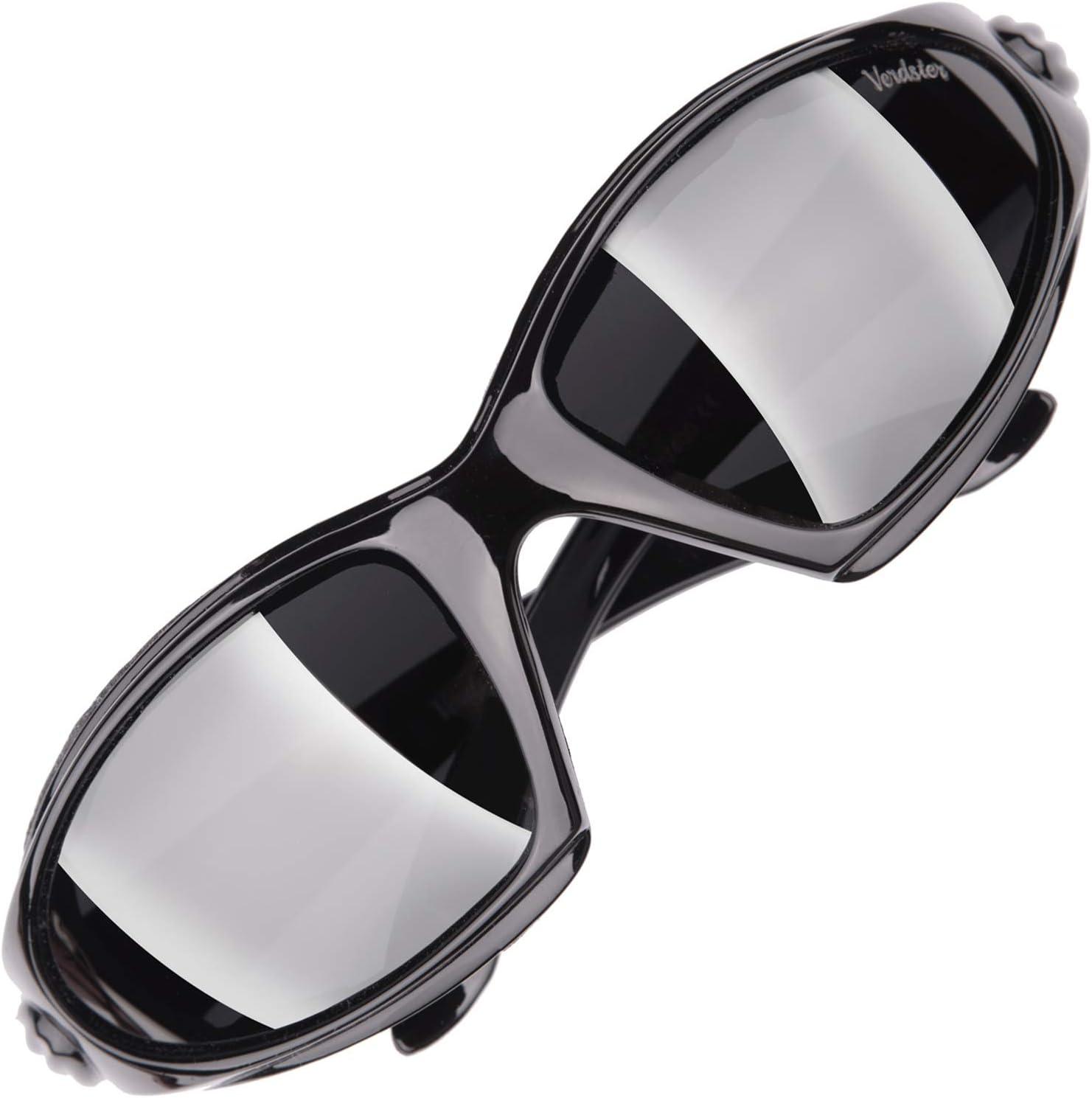 Verdster Gafas de sol Polarizadas Airdam Para Hombres – Aptos para Moto & Conducir – Montura Envolvente Cómoda con Protección UV – Incluye un Estuche, Funda y Pañuelo