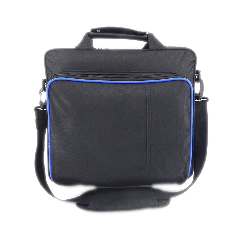 For PS4/PS4 Pro Slim Game System Bag Original Size for Playstation 4 Console Protect Shoulder Carry Bag Handbag Canvas Case,Without Logo