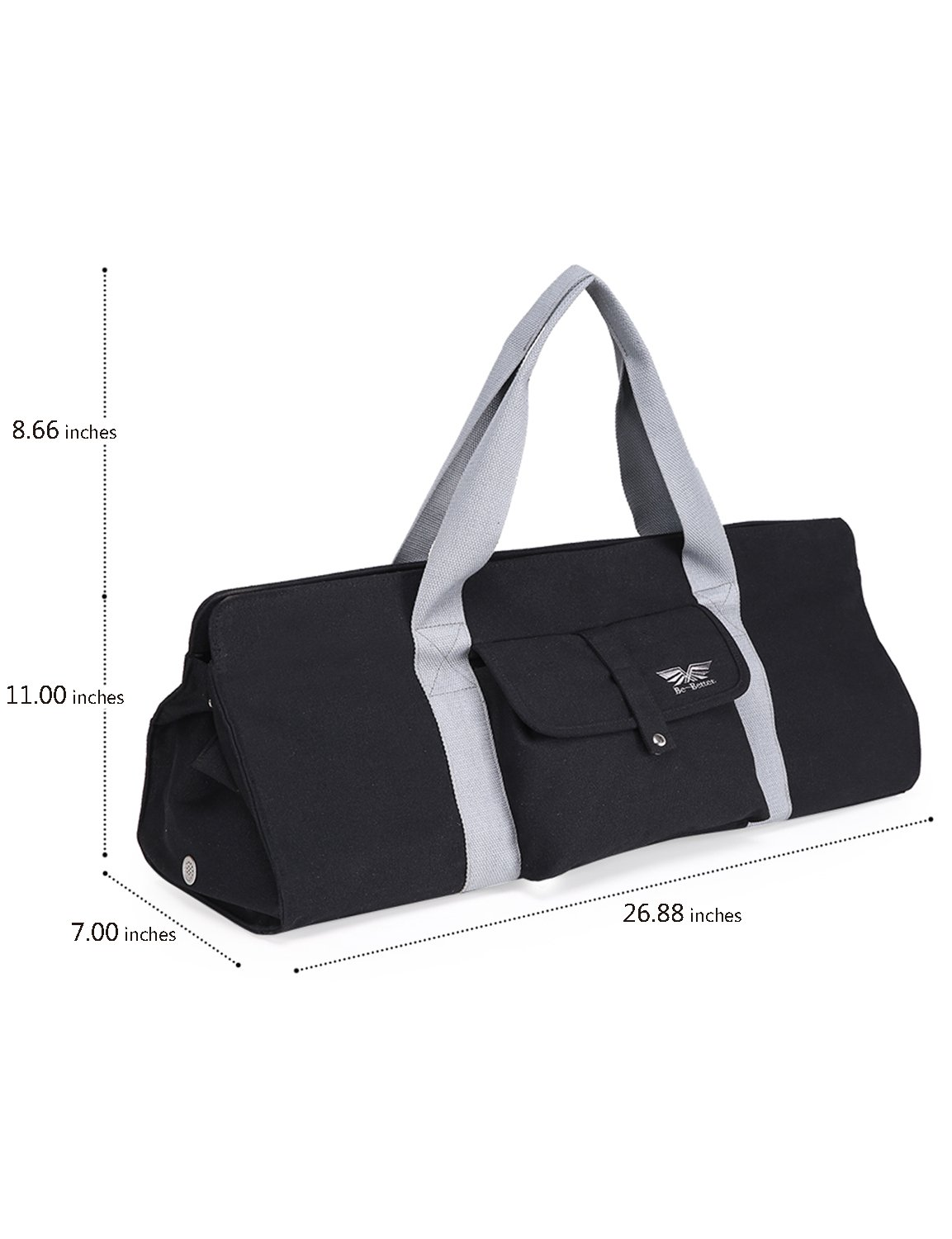 BAGLAND Yoga Mat Carrier Tote Bag with Expandable Main Compartment for Yoga  Belt e36e1af17a84a