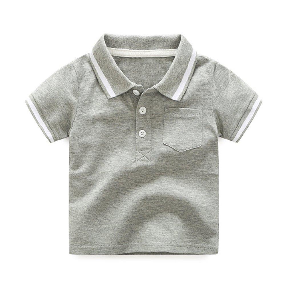 SPRMAG Boys T-Shirt Botton up Summer Size 7 Grey