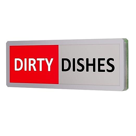 Indicador de señal de imán de lavavajillas limpiar sucio ...