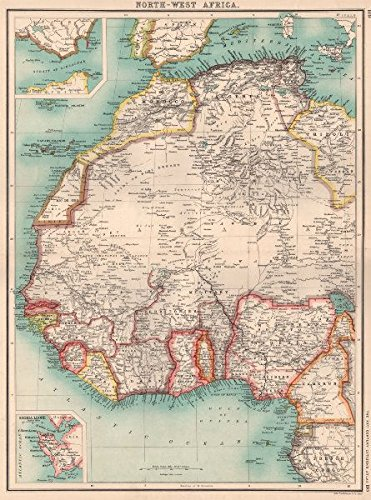 Map Of Africa Nigeria.West Africa Nigeria Gold Coast Ghana Dahomey Benin Rio De Oro Morocco 1901 Old Map Antique Map Vintage Map Printed Maps Of Africa