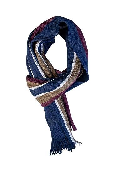 e9d4efb7afff0 Ted Baker Keverne Navy Horizontal Stripe Scarf One Size  Amazon.co.uk   Clothing