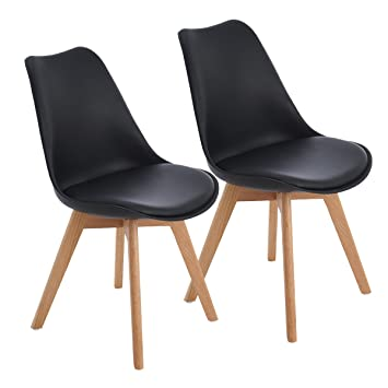 EGGREE Lot De 2 Chaises Salle A Manger Scandinave TM Retro Tulip Chaise