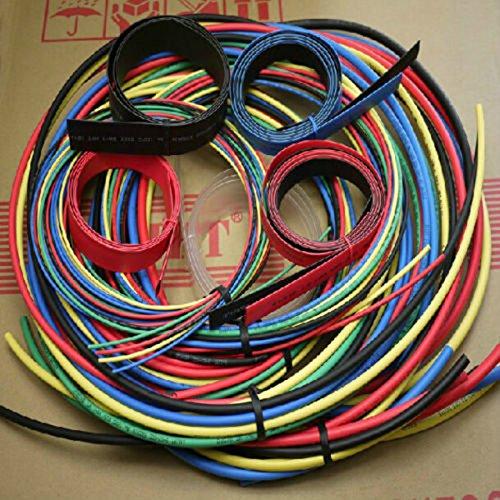 TOOGOO Tubo encogible de calor 55M Conjunto de 11 tamanos Colorido manguito de tubo de cable de 6 colores