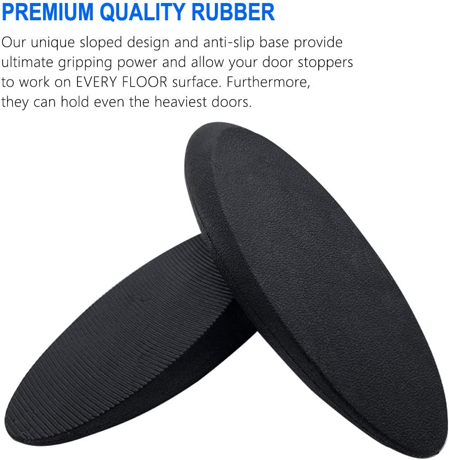 Door Stop That Wont Scratch Floor or Door Made of Rubber and Stainless Steel Works On All Floor Types and Carpet Heavy Duty Door Gutyepe 3 Pack Heavy Duty Rubber Door Wedge Rubber Door Stopper