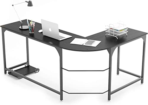 Weehom Reversible L Shaped Desk Corner Gaming Computer Desk