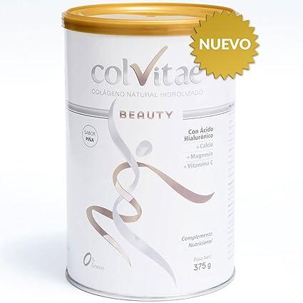 COLVITAE BEAUTY - SABOR PIÑA - Colágeno Hidrolizado Natural + Calcio + Ácido Hialurónico + Vitamina