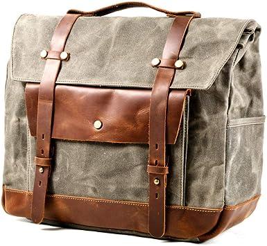 Jfzs Multifunktions Canvas Motorradtasche Seitentasche Satteltaschen Schulter Umhängetasche 1 Taschen 40 30 15 Cm B Küche Haushalt