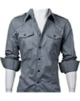 GL Fashions® Men's Casual Strap Shoulder Long Sleeve Dress Shirt