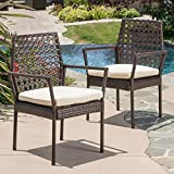 Great Deal Furniture Parker Multibrown Wicker Dining Chairs (Set of 2)